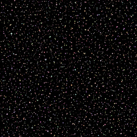 galaxies: Vector Realistic seamless of the night sky with color stars and galaxies. 1 Illustration