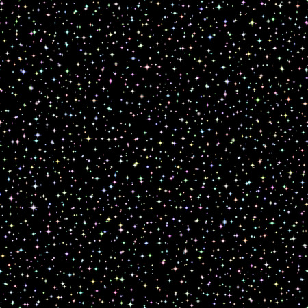 galaxies: Vector Realistic seamless of the night sky with color stars and galaxies. 4 Illustration