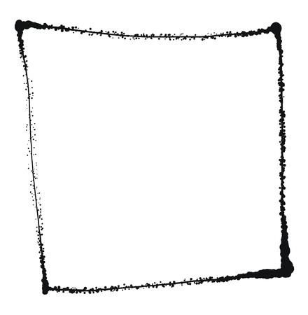grunge frame: Vector Black grunge frame isolated on the white background 5