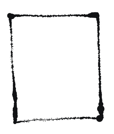 Vector Black grunge frame isolated on the white background 8