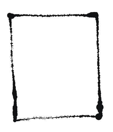 Vector Black grunge frame isolated on the white background 8