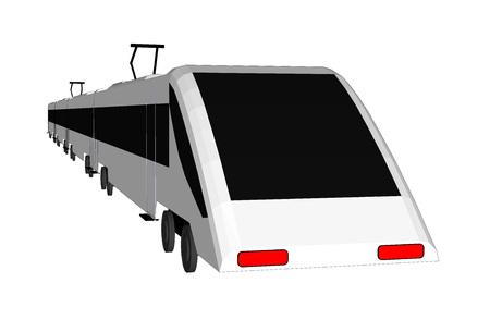 Vector metro geïsoleerd trein, metro vlak, metro 3d, metro vervoer, metro