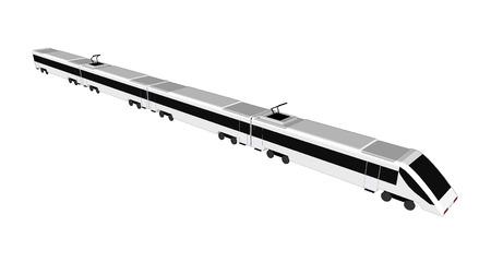 Vector geïsoleerde metrotrein, metrotrein, metro 3d, metrovervoer, metro