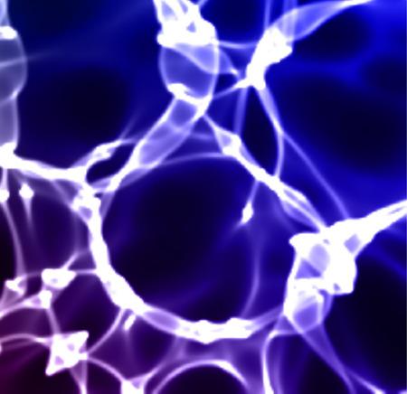 caustic: Vector image color caustic pattern. Sea waves foam. Illustration
