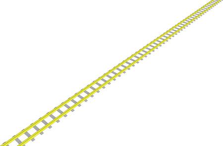 generic location: Vector image Yellow railway on white background Illustration