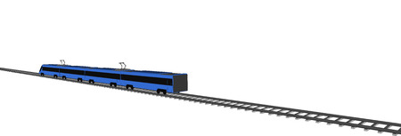 fast train: Vector blue Fast train on white background