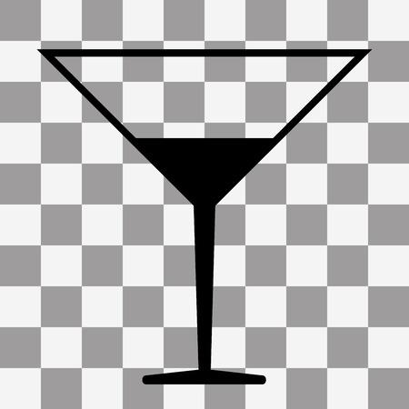 coctail: Vector black Coctail icon on transparent background