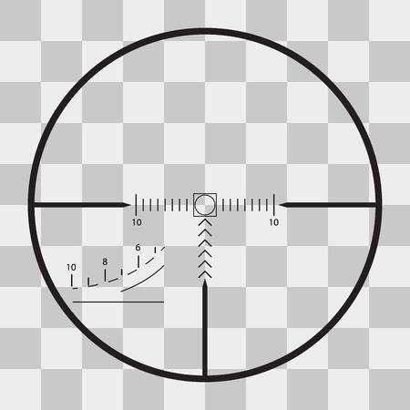 Vector sniper black finder target illustration bull eye on transparent background Ilustrace