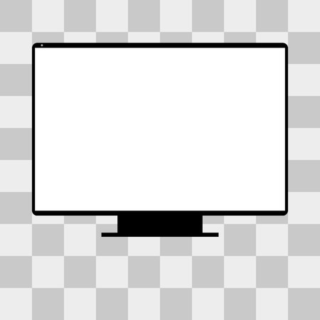 tv screen: Vector monitor TV Screen on transparent background