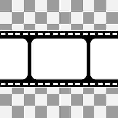 cadre: film strip with space for your text or image on transparency background
