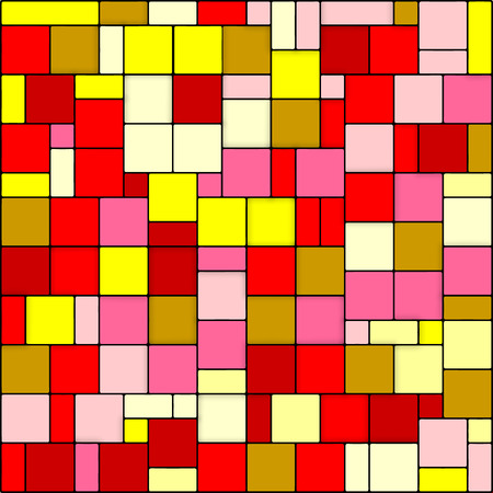 mondrian: Vector Abstract color geometric red yellow pattern Illustration