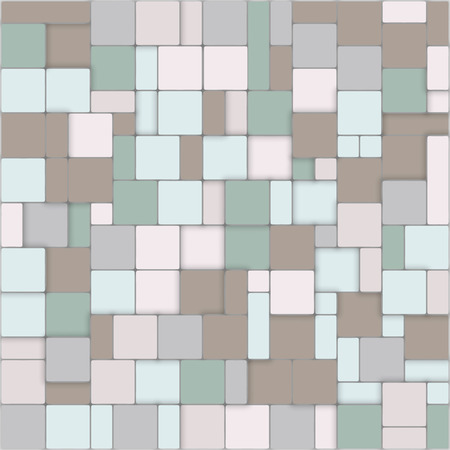 brown pattern: Vector geometric pattern with color rectangle shapes soft brown pattern