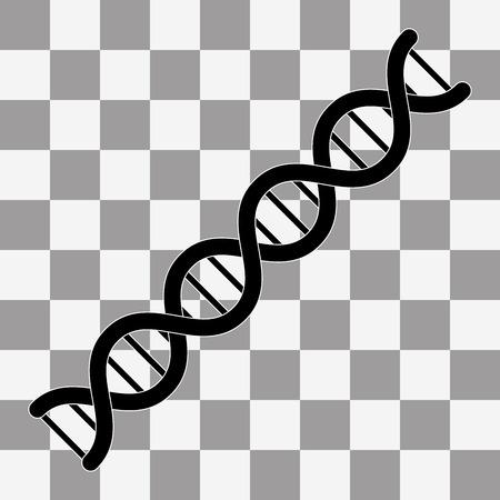 Vector De dna-pictogram. DNA-symbool. Flat Vector afbeelding op een transparante achtergrond