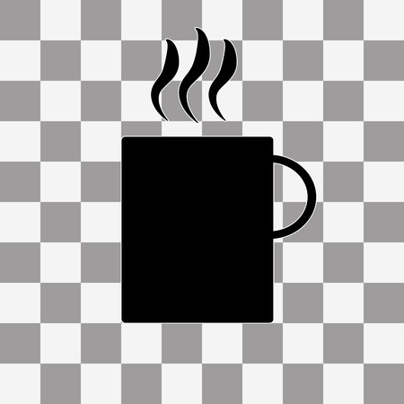 coffee cup icon: Vector Coffee cup icon on transparent background Illustration