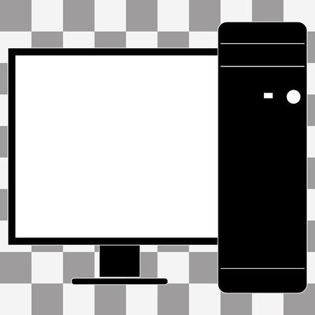 투명 배경에 벡터 데스크탑 컴퓨터 아이콘