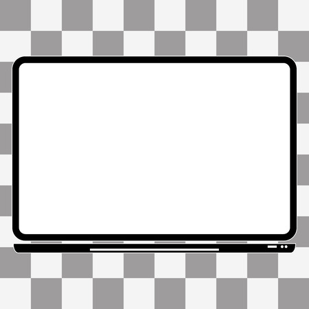 notebook computer: Vector notebook Computer Icon on a transparent background