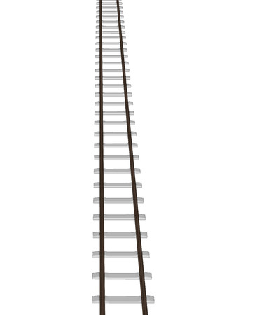 siding: Vector 3d railway, railroad track silhouettes. Straight version repeatable. Illustration