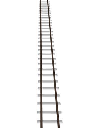 railroad track: Vector 3d railway, railroad track silhouettes. Straight version repeatable. Illustration