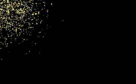 Vector oro coriandoli su uno sfondo nero