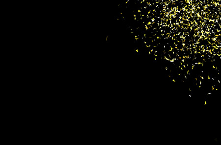 isolated  background: Vector gold confetti on a black background Illustration