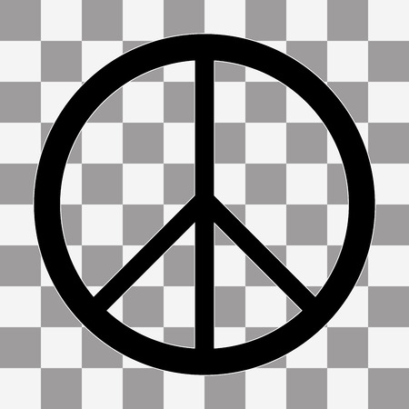 pacificist: Peace sign Icon Vector on a transparent background