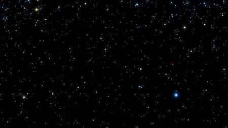 starfield: Black Night sky with bright stars. Constellation. Vector illustration. Illustration