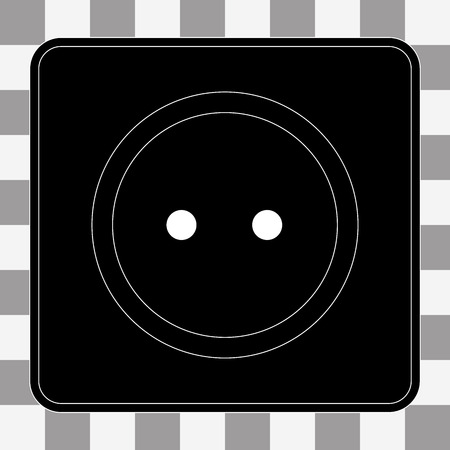 wall socket: Vector Power socket icon. Electricity power adapter sign on a transparent background