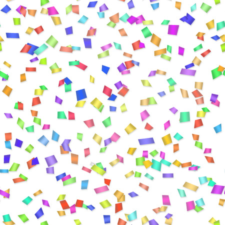 second birthday: Vector Seamless background with many tiny pieces of colored confetti