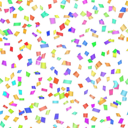 tiny: Vector Seamless background with many tiny pieces of colored confetti