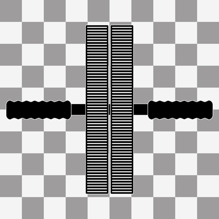 flatter: Vector black roll Roller for press icon on a transparent background
