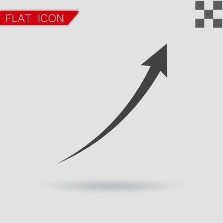black arrow: Vector black arrow Infographic, chart Flat Style with red mark