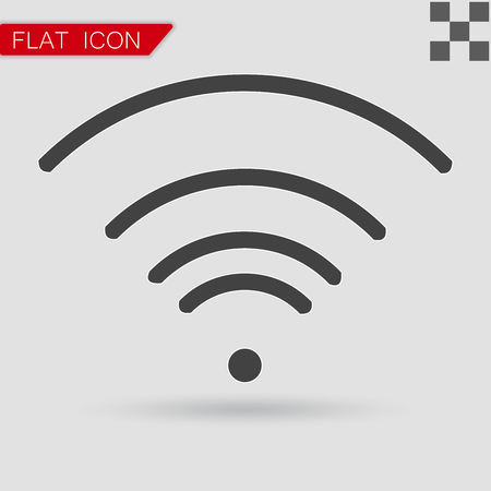 wifi icon: Vector black Wi-Fi Icon Flat Style with red mark