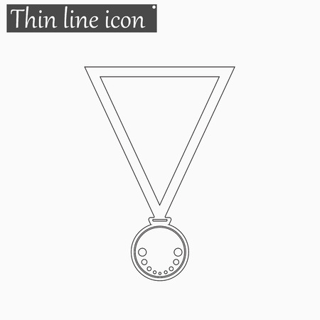 conquering: Medal icon Vector Style Black thin line