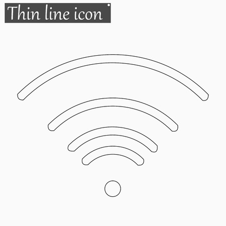 tehnology: Wi-Fi icon Vector Style Black thin line