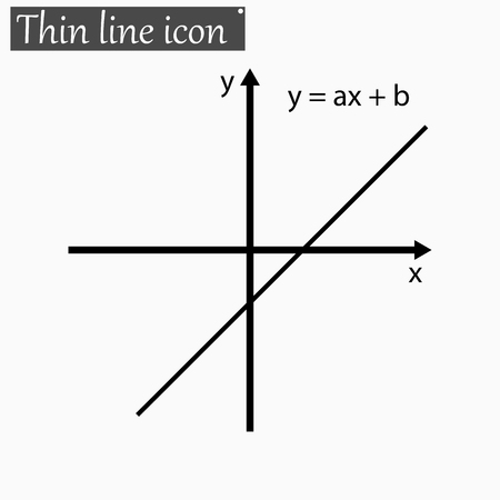 plotting: mathematical function graph Vector Style Black thin line