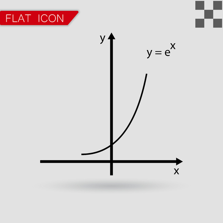 cosine: Vector illustration of mathematics functions with red mark
