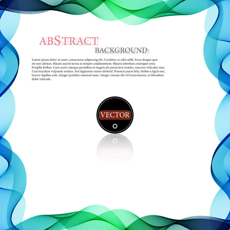 vector colorful wave shaped border stripes background for poster
