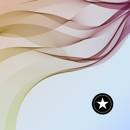 twist: Vector Abstract Colorful smooth twist light lines background.