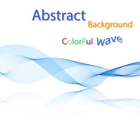 abstract waves background: Vector Abstract colorful smoky waves on mirror background. Template brochure design