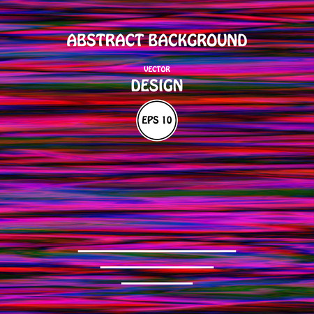 Vector image color glitch abstract background. Chaos aesthetics of signal error. Digital decay.