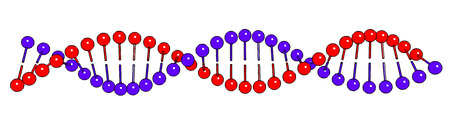 cytosine: DNA shapes molecule on white background Vector image