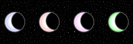 gaseous: Black Night sky with stars with moons. Vector image . Vector image