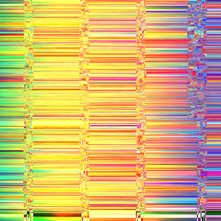 display problem: Vector image glitch Colorful abstract background for your designs. Chaos aesthetics of signal error. Digital decay.