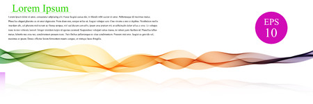 Spectrum waves color. Abstract wavy vector background, colored waved lines for brochure, website, flyer design. Waves line with simple text Illustration