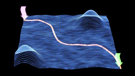 surveying: Digital technology GPS traffic background. Stock vector illustration image