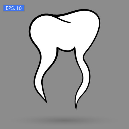 Art. tooth Icon Vector image