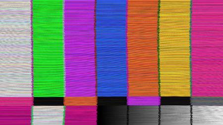 Vector background Distorted glitch TV. Descendant network. Digilal No signal.