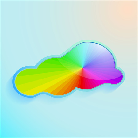 Vector Colors greeting cloud background.