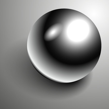 Vector Beautiful 3D shiny natural Black Pearl. Illustration