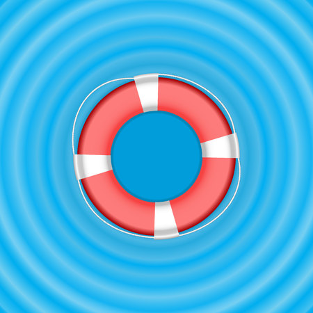 Vector Ring life buoy on water